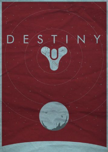 GAMES - DESTINY MINIMAL RED canvas print - self adhesive poster - photo print